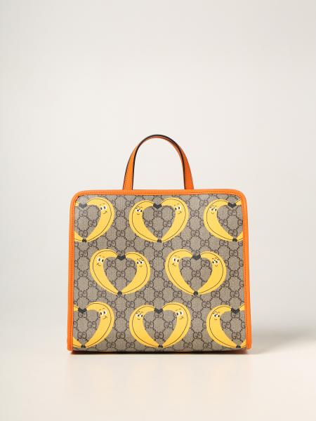 Gucci: Borsa shopping Gucci con stampa di Nina Dzyvulska