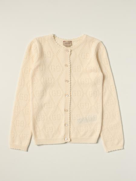 Gucci: Gucci cardigan in wool with all over perforated GG motif