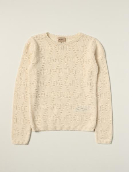 Gucci: Gucci wool jumper with all over perforated GG motif