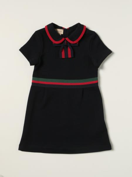 Gucci: Gucci cotton dress with Web bands