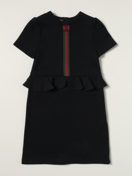 Gucci: Gucci cotton dress with Web band