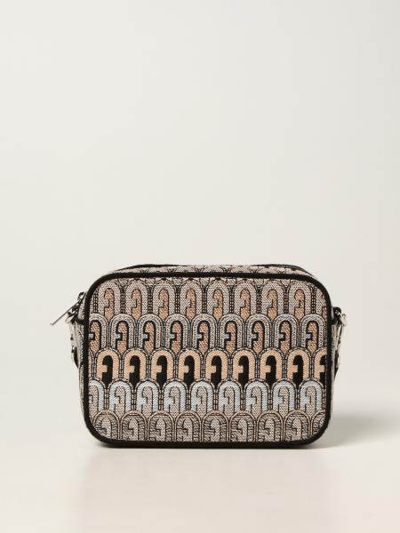 Furla women: Real Furla bag in jacquard with all over logo