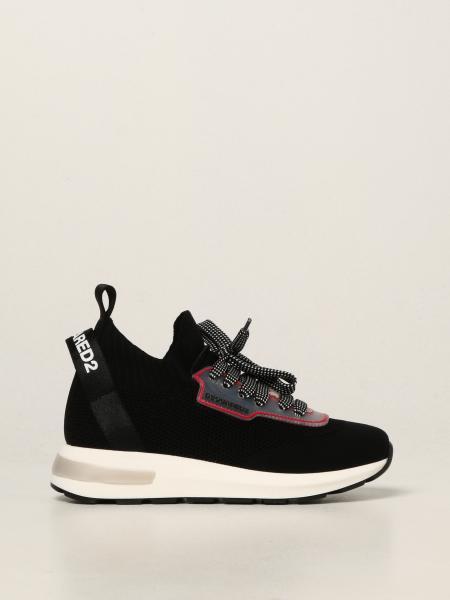 Sneakers Dsquared2 Junior in maglia stretch
