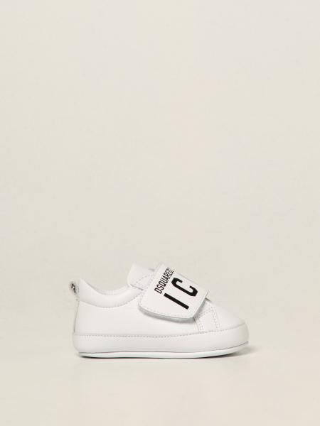 Dsquared2 Junior leather trainers