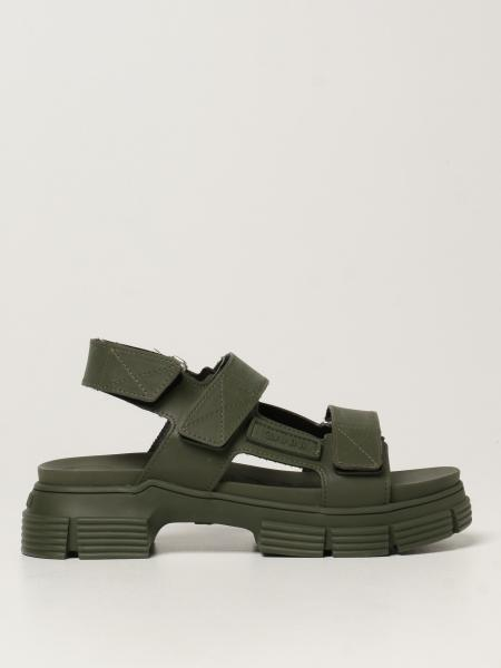 Ganni sandals in recycled rubber