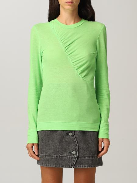 Ganni top in stretch cotton jersey