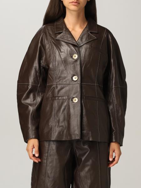 Ganni lambskin jacket