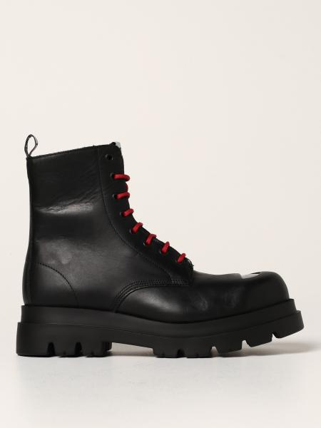 Cult Bolt men: Cult Bolt combat boots in leather