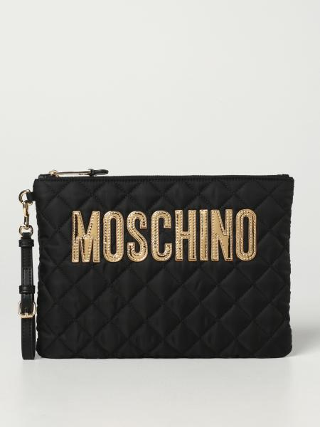 Moschino Couture pouch in quilted nylon