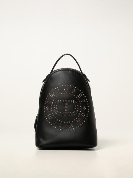 Twin-set rucksack in synthetic leather with studs