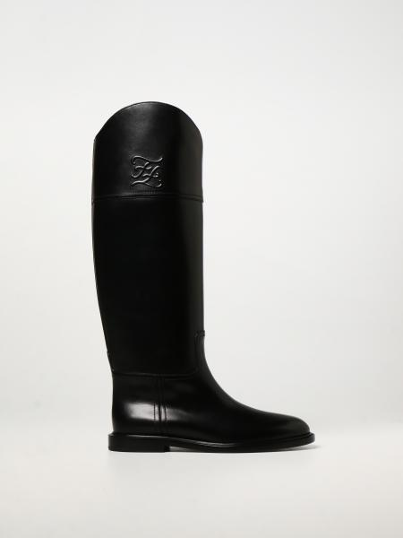 Fendi Karligraphy boots in leather