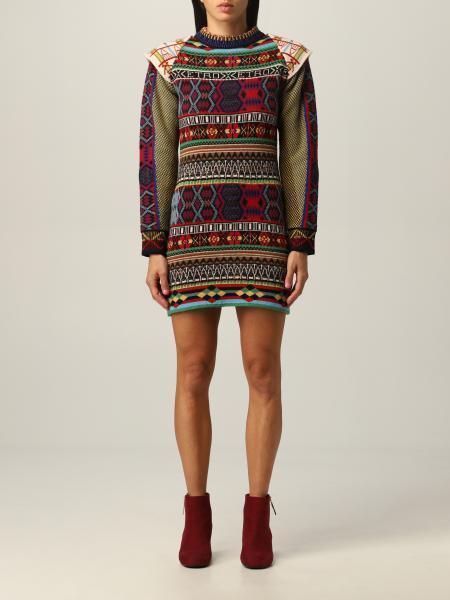 Etro: Etro knit dress in multicolor wool