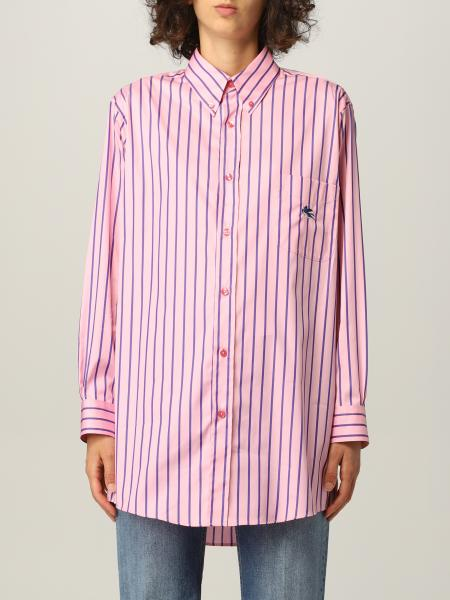 Etro: GE01 Etro shirt in striped cotton