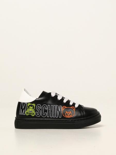 Moschino Baby sneakers in leather