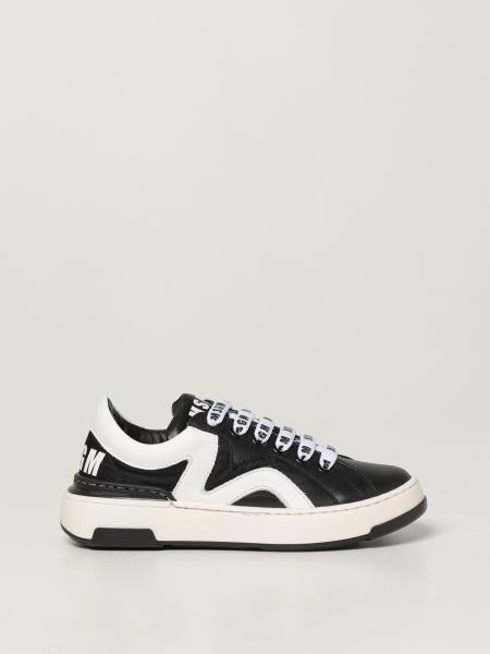 Msgm Kids leather sneakers