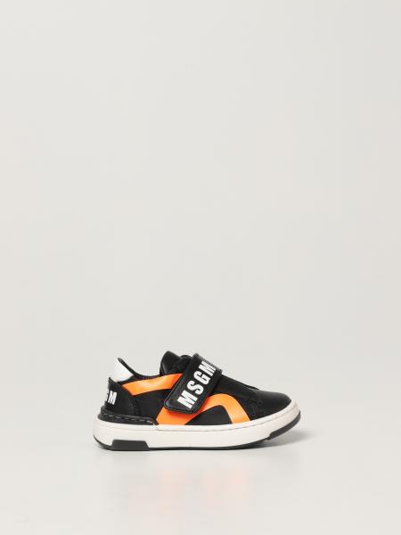 Msgm Kids sneakers in leather and fabric