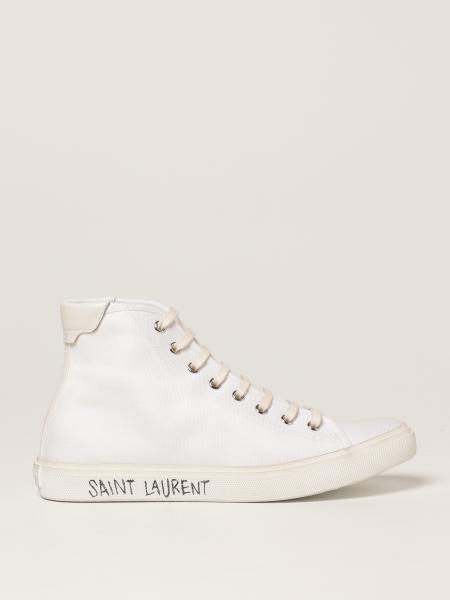 Saint Laurent women: Malibù Saint Laurent sneakers in canvas and leather