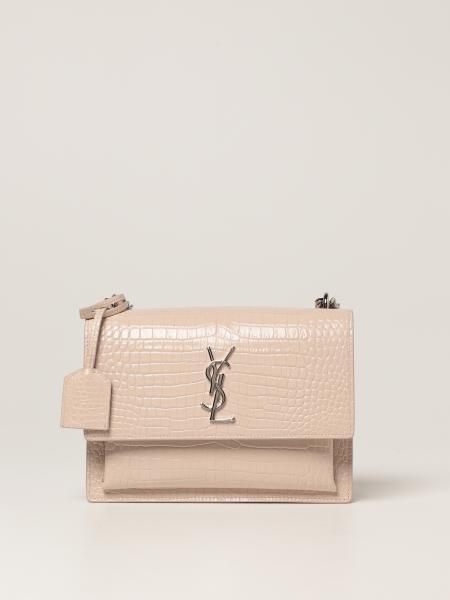 Saint Laurent women: Sunset Saint Laurent bag in crocodile print leather