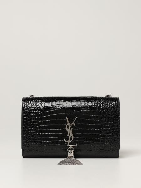 Saint Laurent women: Kate Saint Laurent satchel bag in crocodile print leather