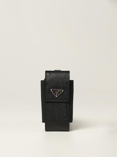 Prada: Prada Saffiano 皮革手机套
