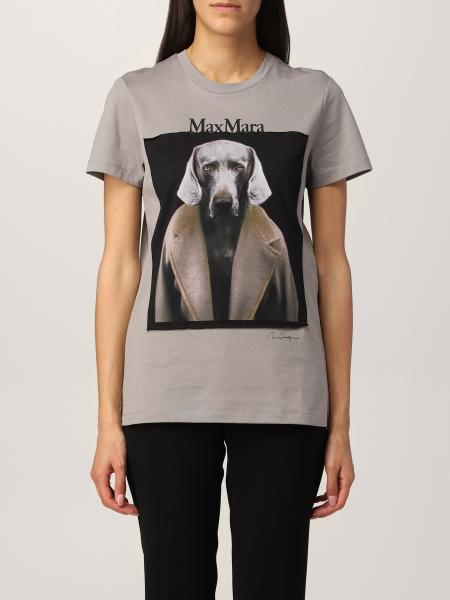 Max Mara: T-shirt Dogstar Max Mara in cotone