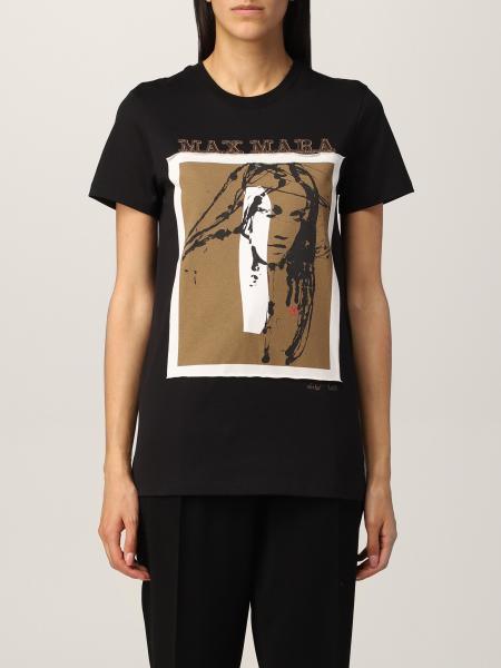 T-shirt Max Mara in cotone con stampa Divina