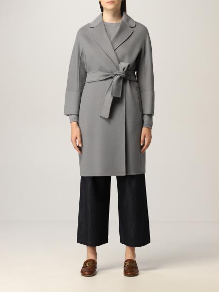 Cappotto a vestaglia S Max Mara in lana vergine