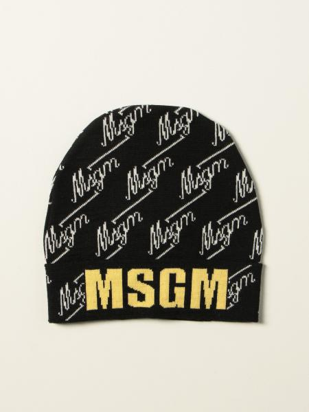 Msgm Kids hat with all over logo