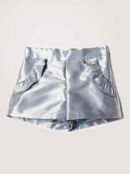Simonetta shorts in metallic satin