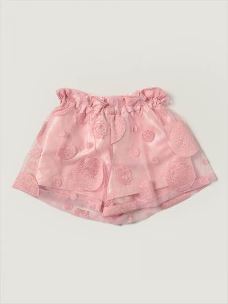 Simonetta shorts in double tulle with embroidery