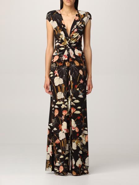 Etro women: Long Etro dress in floral patterned jersey