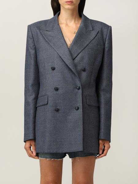 Etro women: Etro double-breasted blazer in wool blend