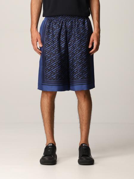Versace men: La Greca Versace silk shorts