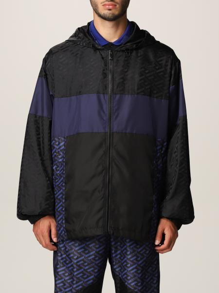 Versace men: La Greca Versace nylon jacket
