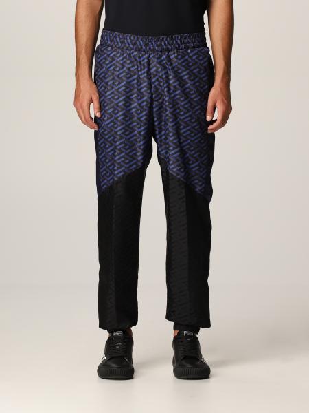 Versace men: La Greca Versace nylon jogging trousers