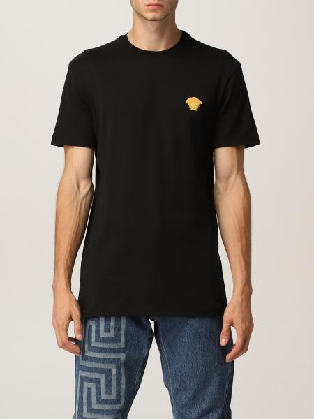 Versace men: Versace cotton T-shirt with Medusa
