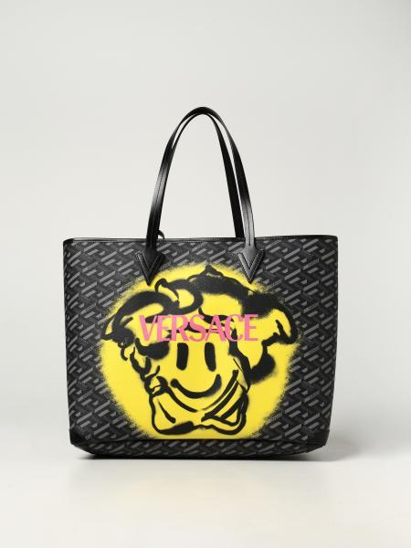 Borsa Medusa Smiley Versace in tela