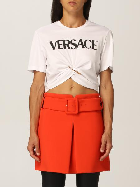 Versace cotton T-shirt with logo and Medusa Smiley