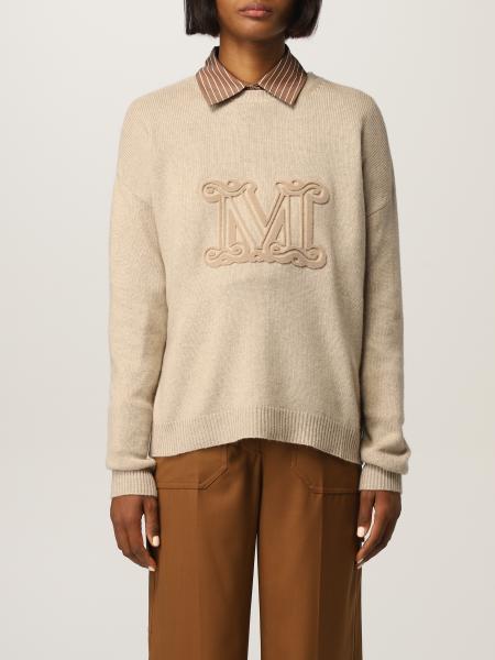 Max Mara: Maglia Giostra Max Mara con logo in cashmere e lana