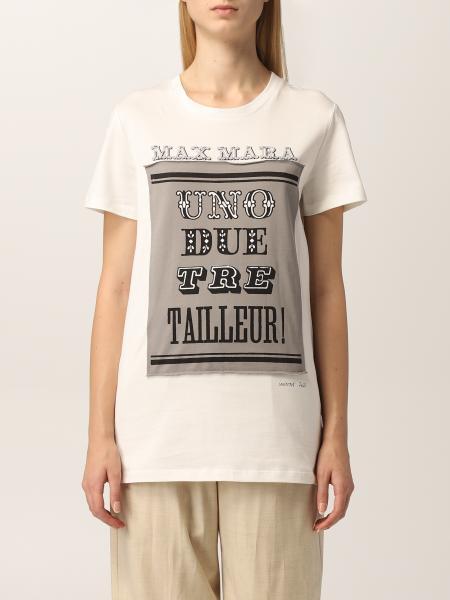 Max Mara: T-shirt Polo Max Mara in cotone con stampa