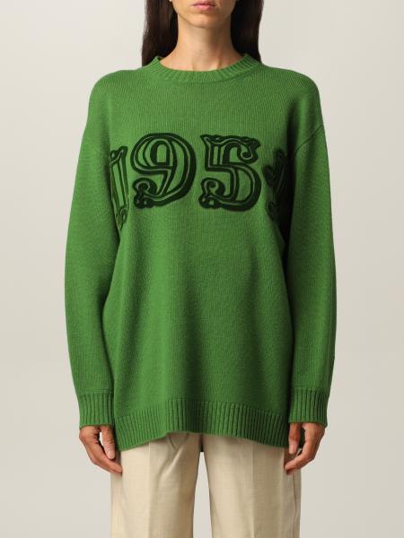 Max Mara: Maglia Max Mara con logo in cashmere e lana