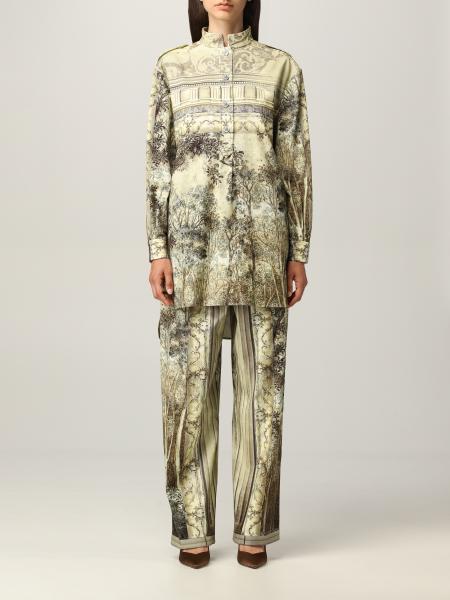 Alberta Ferretti donna: Camicia Alberta Ferretti in cotone con stampa grafica