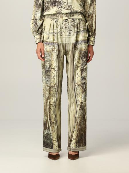 Alberta Ferretti donna: Pantalone Alberta Ferretti in cotone con stampa grafica