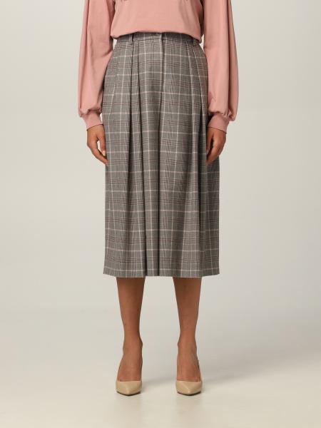 Pantalone check Alberta Ferretti in lana vergine