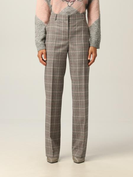 Alberta Ferretti donna: Pantalone Alberta Ferretti in flanella di lana vergine