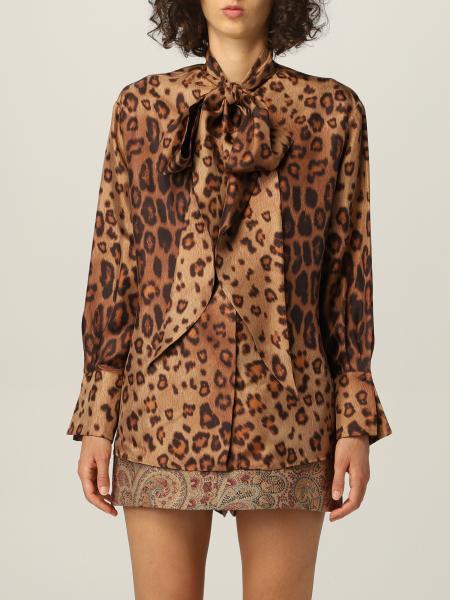 Etro: Etro shirt in animalier silk