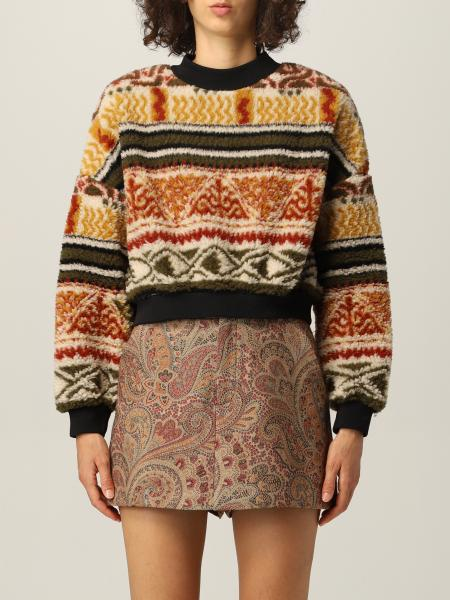 Etro: Etro jumper in wool blend with geometric patterns