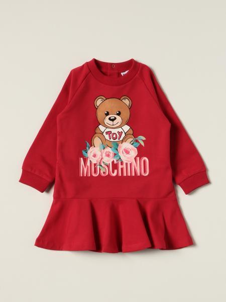 Moschino Baby sweatshirt dress with teddy flower