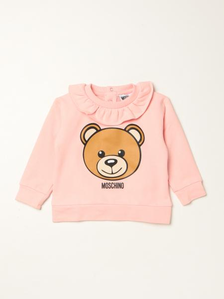Maglia Moschino Baby in cotone con teddy