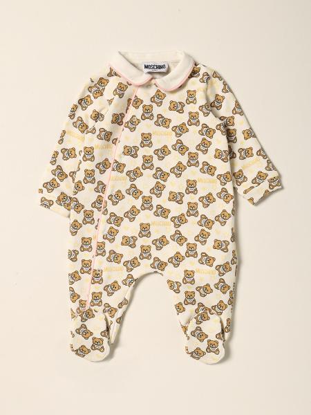 Tutina con piede Moschino Baby con teddy all over
